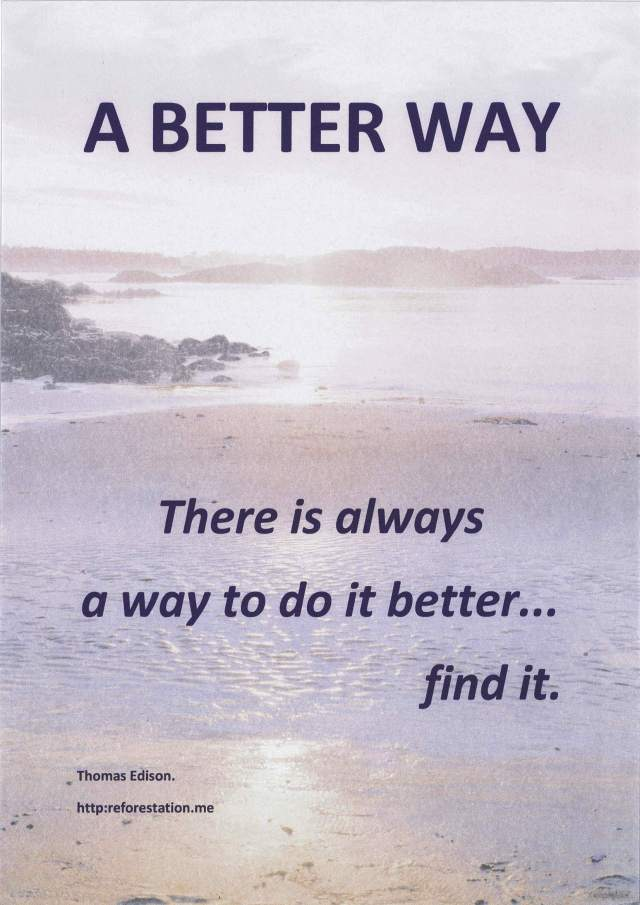 """A Better Way"" PThomas edison quote poster."