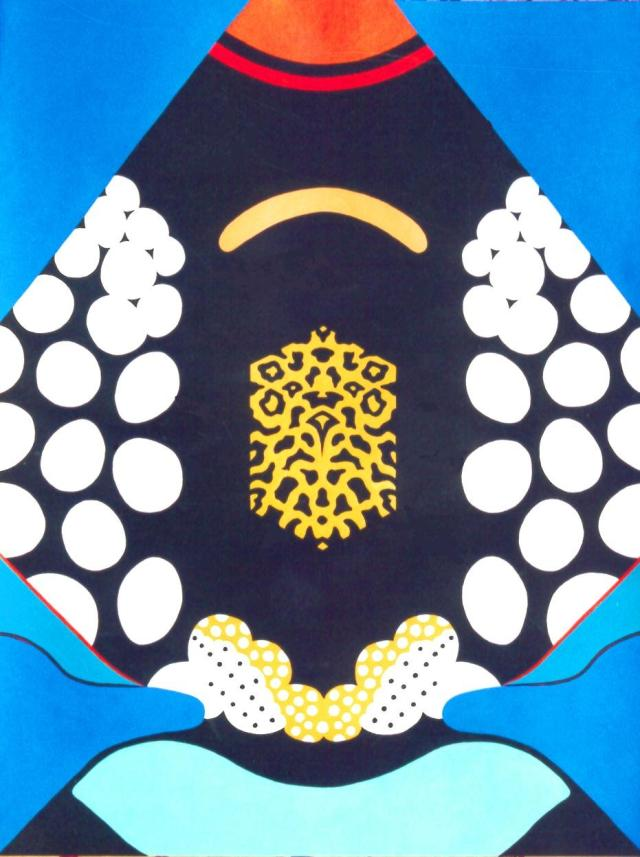 Clown Triggerfish Abstract painting by David Clode.