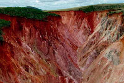 Erosion on a grand scale, madagascar. Photo: Gary Mojombo.