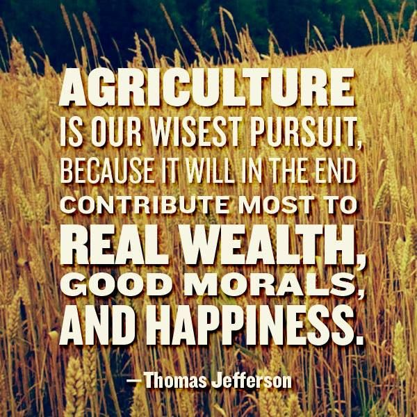 Agriculture - Thomas Jefferson quote poster.