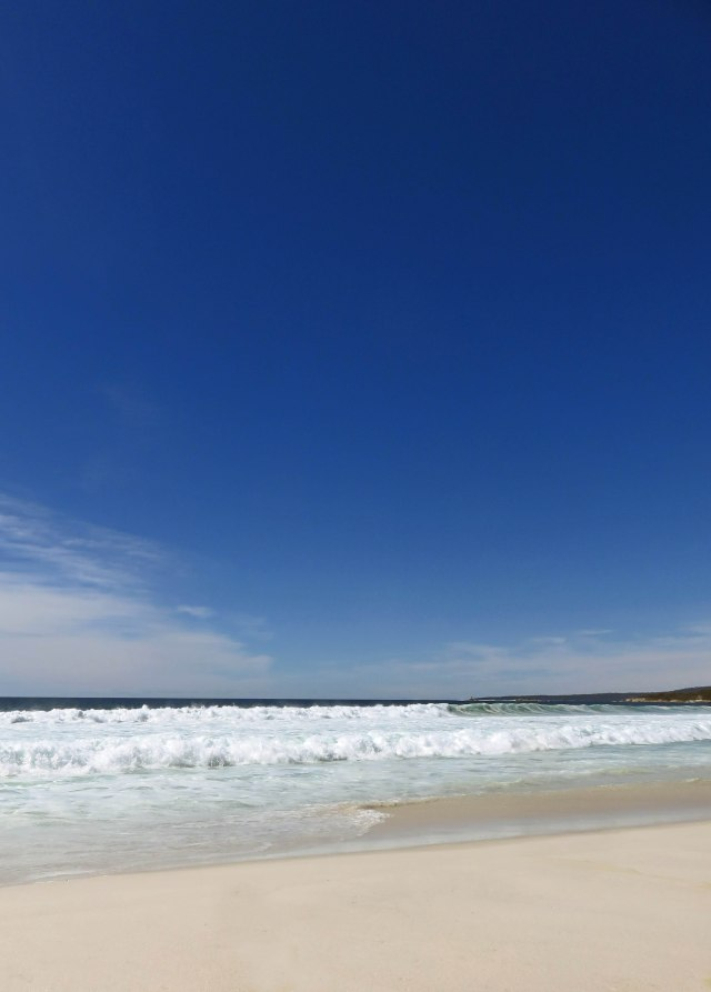 One of many beaches in the Bay of Fires area. Photo: David Clode.