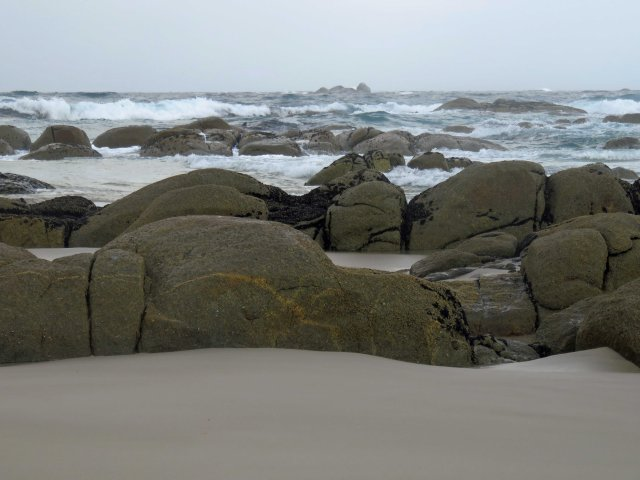 Stormy weather, Beerbarrel beach, Tasmania. Photo: David Clode.