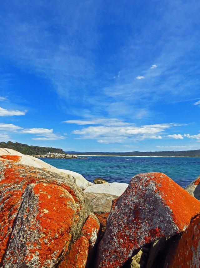 Burns Beach, bay of Fires, Tasmania. Photo: David Clode.
