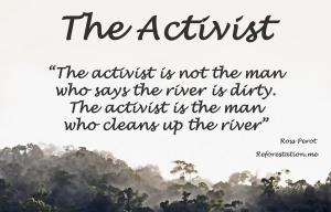 Activist poster by David Clode.