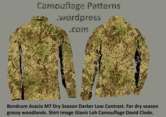 Dry Grassy Woodland camouflage design by David Clode.